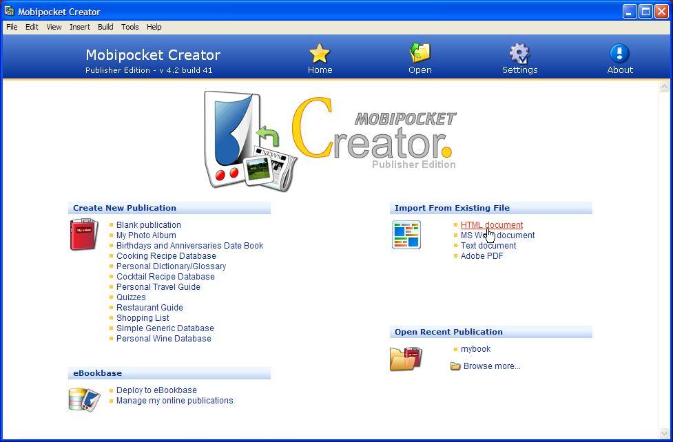 Mobipocket Ebook Format